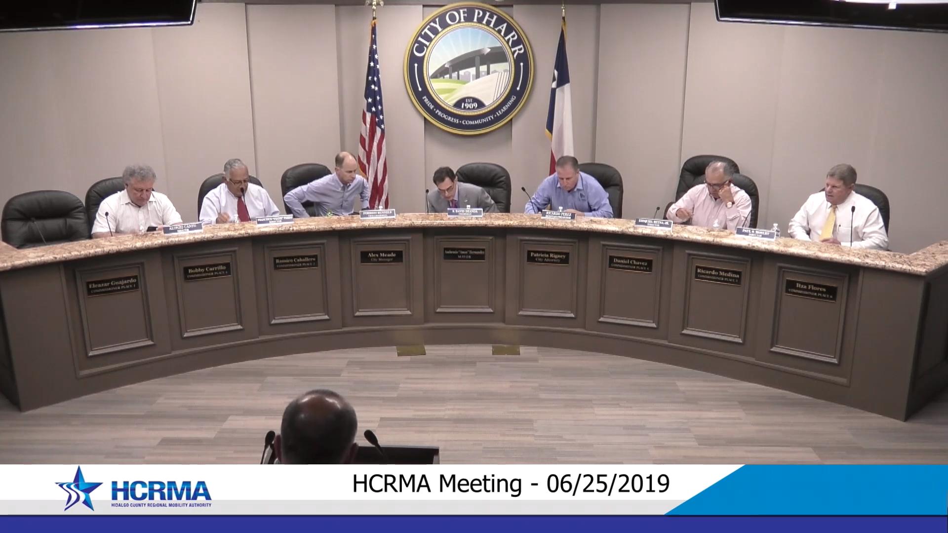 HCRMA Board Meeting – June 25th, 2019